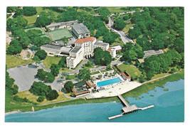 Georgia Savannah Inn Country Club Aerial View Hotel Resort Vintage Postcard