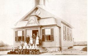 NY - Long Island, Herricks. Herricks School Circa 1898 (Repro)