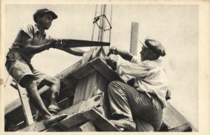 israel, Jewish Builders at Work (1930s) Judaica Postcard