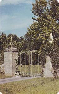 Graceful bronze gates, Brookgreen Gardens,   Myrtle Beach,  South Carolina,  ...