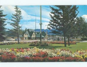 Pre-1980 VILLAGE GARDENS ADMIN BUILDING Jasper Park Alberta AB c8561