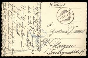 3rd Reich Germany 1942 Concentration Camp KL Oranienburg Guard Feldpost 87611