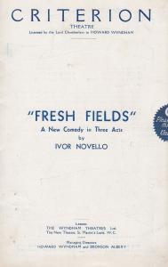 Fresh Fields Ivor Novello Criterion Comedy London Theatre Programme