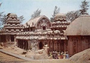India Mahabalipuram Five Rathas