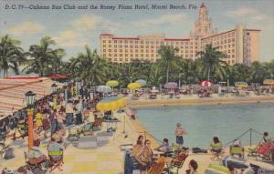 Florida Miami Beach Roney Plaza Cabana Sun Club And The Roney Plaza Hotel Wit...