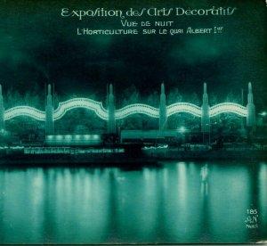 1925 Cppr Paris Exposition Des Ville Decoratifs Horticulture On Quai Albert Nuit
