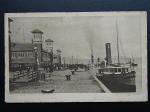 Scotland GREENOCK Princes Pier showing Steam Ferry - Old Postcard by W.R.& S.