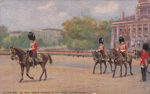 TUCK #3578, The King and the Royal Princes arriving at the Horse Guards Parad...