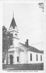 Alfred Maine Congregational Church Vintage Postcard JA4741420