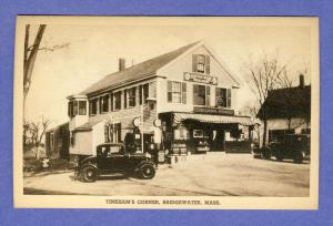 Bridgewater, Massachusetts/MA Postcard, Tinkham's Corner