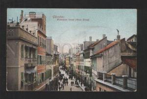 076923 GIBRALTAR Waterport Street Vintage colorful PC