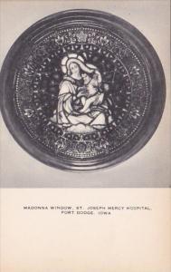 Iowa Fort Dodge Madonna Window Saint Joseph Mercy Hospital
