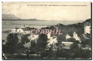 Near Saint Mandrier Old Postcard L & # 39hopital general view of the gardens