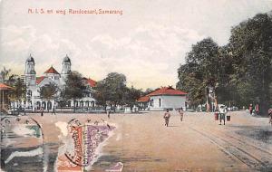 Samarang Indonesia, Republik Indonesia NIS en weg Randoesari Samarang NIS en ...