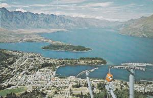 The Skyline Gondola Lift, Queenstown, New Zealand, 1977 PU