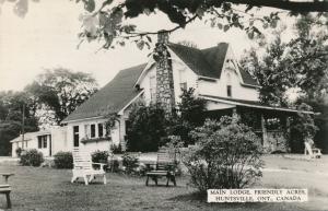 RPPC Main Lodge at Friendly Acres Resort - Huntsville, Ontario, Canada - pm 1966