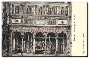Old Postcard Padova Cappella del Santo