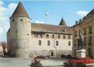Postcard France Yverdon le chateau the castle il castello statue monument