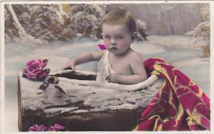 RP, Winter Scene, Baby In A Tree Trunk, Bonne Annee - Happy New Year 1920-1...