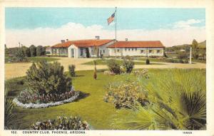 Phoenix Arizona~Country Club House~Beautiful Flower Gardens~Flag~Central News Pc