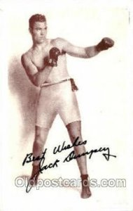 Jack Dempsey Boxing writing on back
