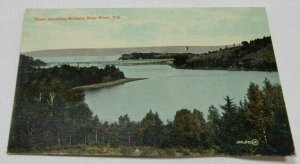 View, Showing Bridges, Bear, N. S., Canada Vintage Postcard 1907-1914 Unposted