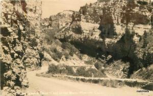1940s Scene Tempe Drive Cave Winds Manitou Colorado Sanborn RPPC 1628
