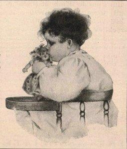 1907 Original Print Ad Child High Chair Doll Best & Co. 2P1-6