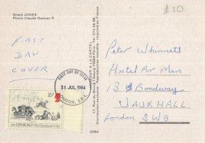 Grace Jones Pop Singer First Day Cover Postcard