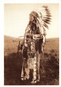 Postcard American Indian, High Hawk by Edward Curtis #309