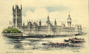 The House of Parliament, London, Artist Joseph Pike, Unused