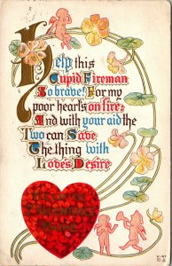 HELP IN ST VALENTNES NAME Posted Embossed V-47 Valentine Postcard