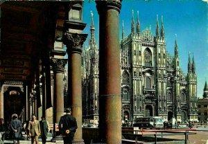 Italy Milano Piazza Duomo Cathedral Square Postcard
