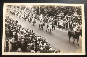 Mint Canada RPPC Postcard Native American Indian Calgary Stampede Parade View