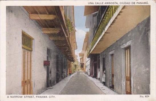 Panama A Narrow Street In Panama City