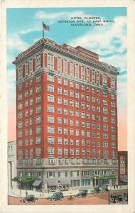 Cleveland Ohio~Hotel Olmsted Superior Ave East Ninth~1920s Vintage Cars~Postcard