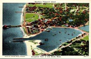 Michigan Martha's Vineyard Island Aeroplane View Of Oak Bluffs Curteich