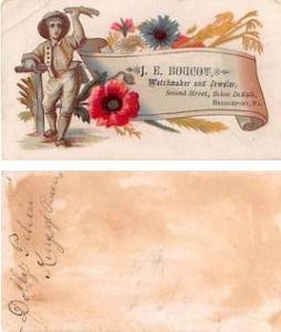 Approx Size Inches = 2 x 3.50  Trade Card
