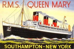 RMS Queen Mary Cunard Line & Interior Vies Ship 1998
