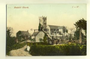 h0202 - Godshill Church & Village  , Isle of Wight - postcard