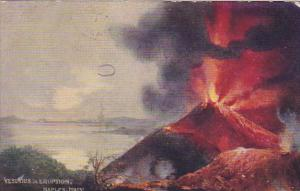 Vesuvias in eruption, Naples, Campania, Italy, PU-1911