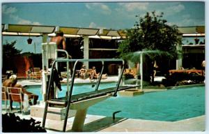 CANADIAN, Oklahoma  OK    Roadside  ARROWHEAD LODGE Swimming Pool    Postcard