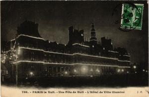 CPA PARIS (4e) - La Nuit Hotel de Ville illuminé (218713)