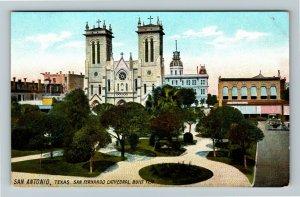 San Antonio TX-Texas, San Fernando Cathedral, Vintage c1910 Postcard
