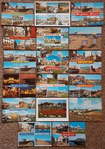 BRIGHTON Postcard Collection of 17 Cards Brand New Brighton Pier, East Sussex