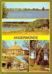 Angermuende Am Muendesee, Strandbad am Wolletzsee, Rathaus, Pulveturm
