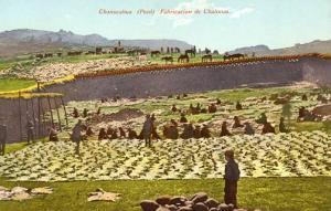 Peru - Chanocahua, Fabrication de Chalonas (Drying Mutton)