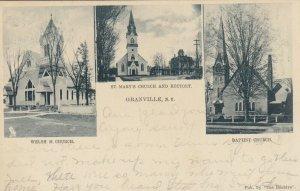 GRANVILLE , New York , 1907 ; 3 churches ; TUCK 0143