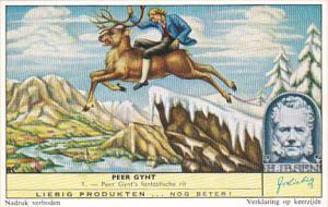 Liebig Trade Card s1733 Peer Gynt No 1 Peer Gynt's Fantastische rit