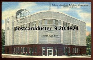 4824 - ELKHART Indiana Postcard 1953 Telephone Corporation by Frank